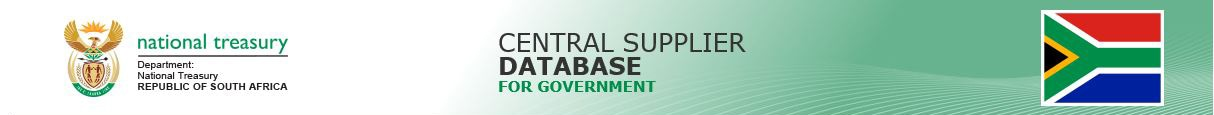 Welcome - Central Supplier Database Application